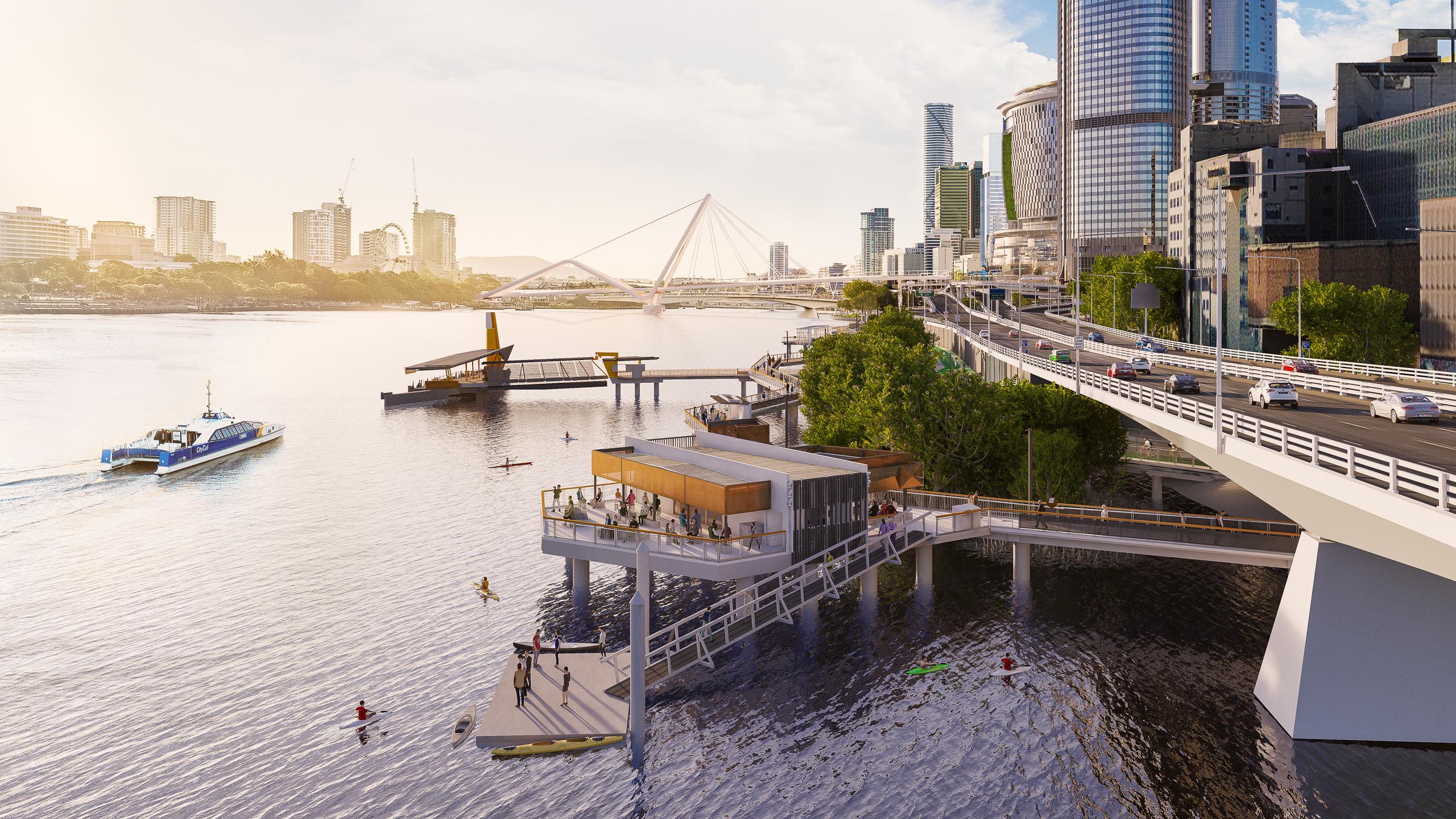 Work starts on Brisbane's newest riverside public space
