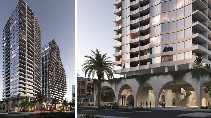 ▲ Plans for 48-58 The Esplanade and First Avenue Burleigh Heads.