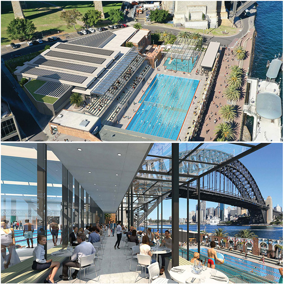 ▲ Plans for Sydney Olympic Pool redevelopment.