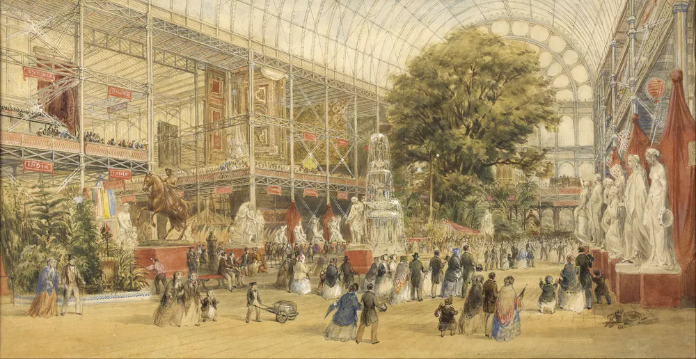 Painting of Queen Victoria opening the Crystal Palace in London, 1851.