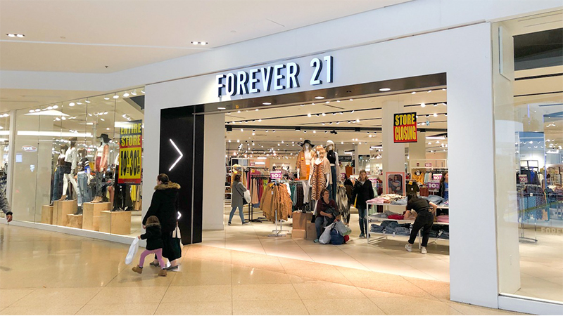▲ Brookfield helped rescue tenant Forever 21 from bankruptcy after the fast-fashion retailer fell over in January.
