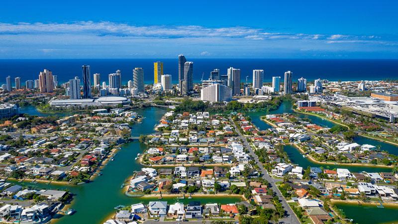 ▲ The Gold Coast, south of Brisbane on Australia's east coast.