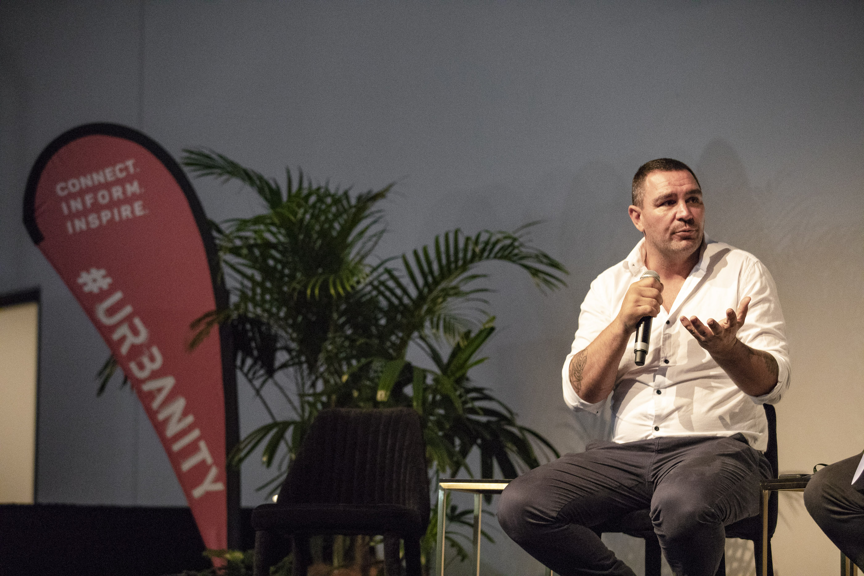 Donovan speaking at Urbanity 2018
