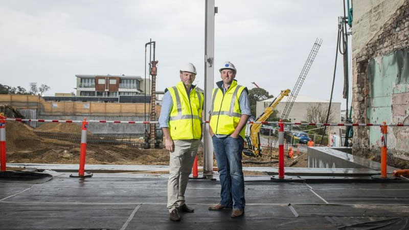 ▲ The company which had a healthy portfolio of 45 completed developments has made 76 employees redundant. Image: Joint Venture Partner Julian Gerner (left) and Steller's Simon Pitard (right)