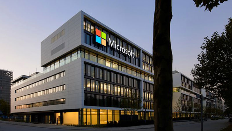 "▲ Microsoft has announced it will offer a ""hybrid workspace"" giving workers the option to work remotely for 50pc of the work week. Image: Microsoft HQ, Munich."