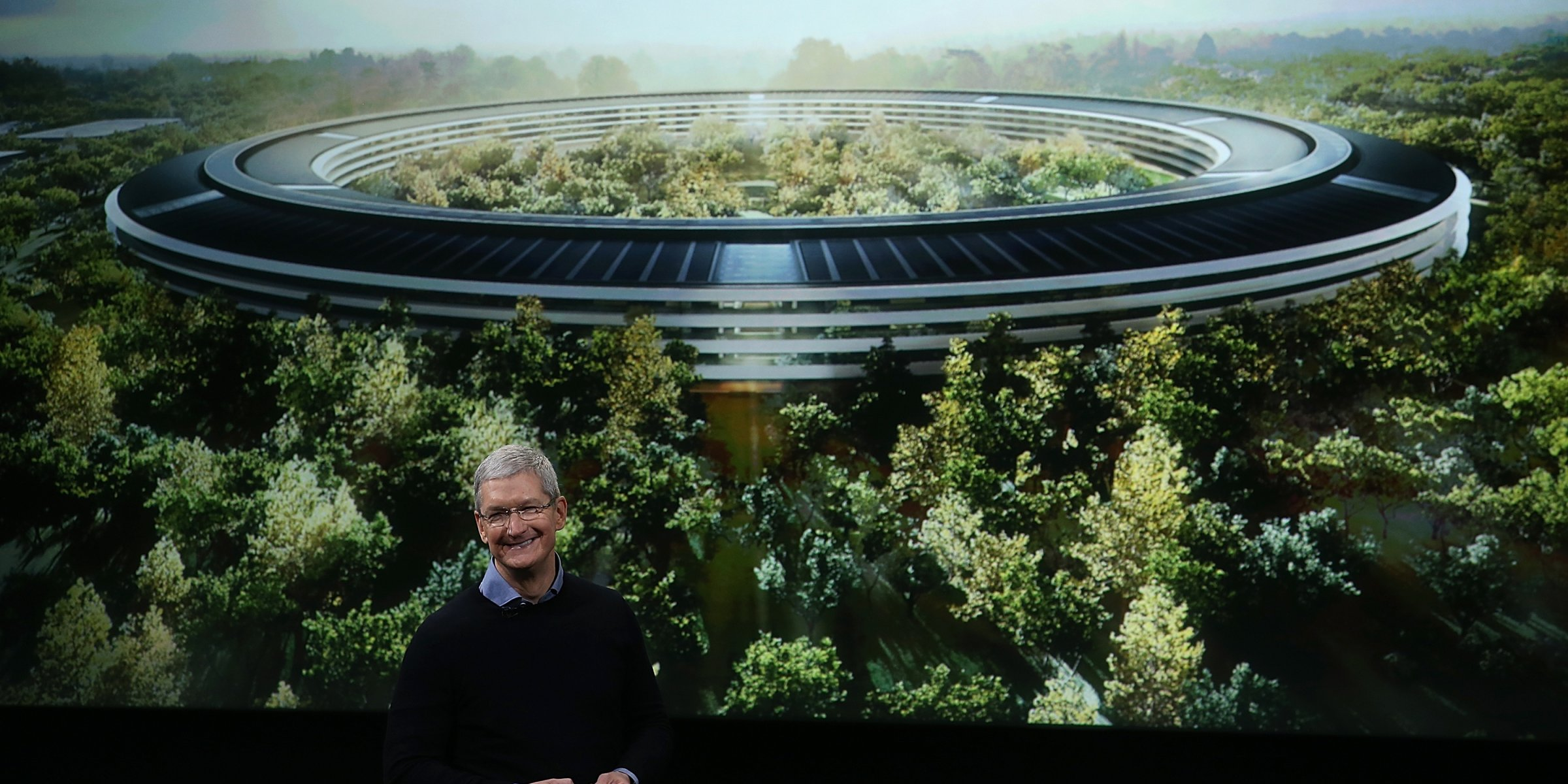 Apple Headquarters sits on a 165 acre site.