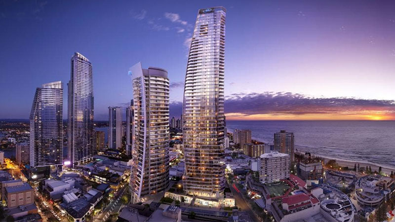 ▲ The 169-room Hilton Surfers Paradise changed hands for $70 million