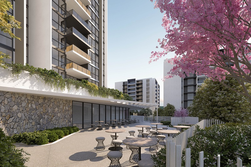 ▲ Four build-to-rent towers are planned for the Capital Court site on the Gold Coast.