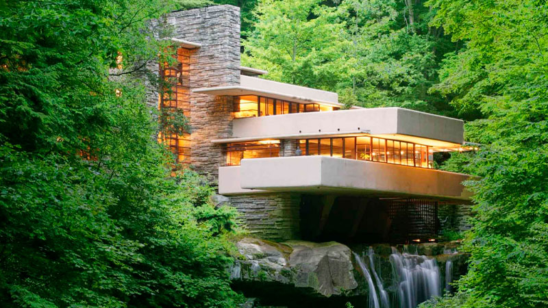▲ Fallingwater. Mill Run, Pennsylvania.