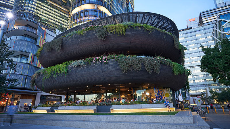 Lendlease has finalised the sale of Kengo Kuma-designed The Exchange at Darling Square and Barangaroo House at 35 Barangaroo Avenue for more than $100 million in Sydney CBD.