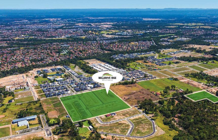 Bellerive Rise in Kellyville, one of Allam Property Group's vast array of housing estates spread across Sydney.