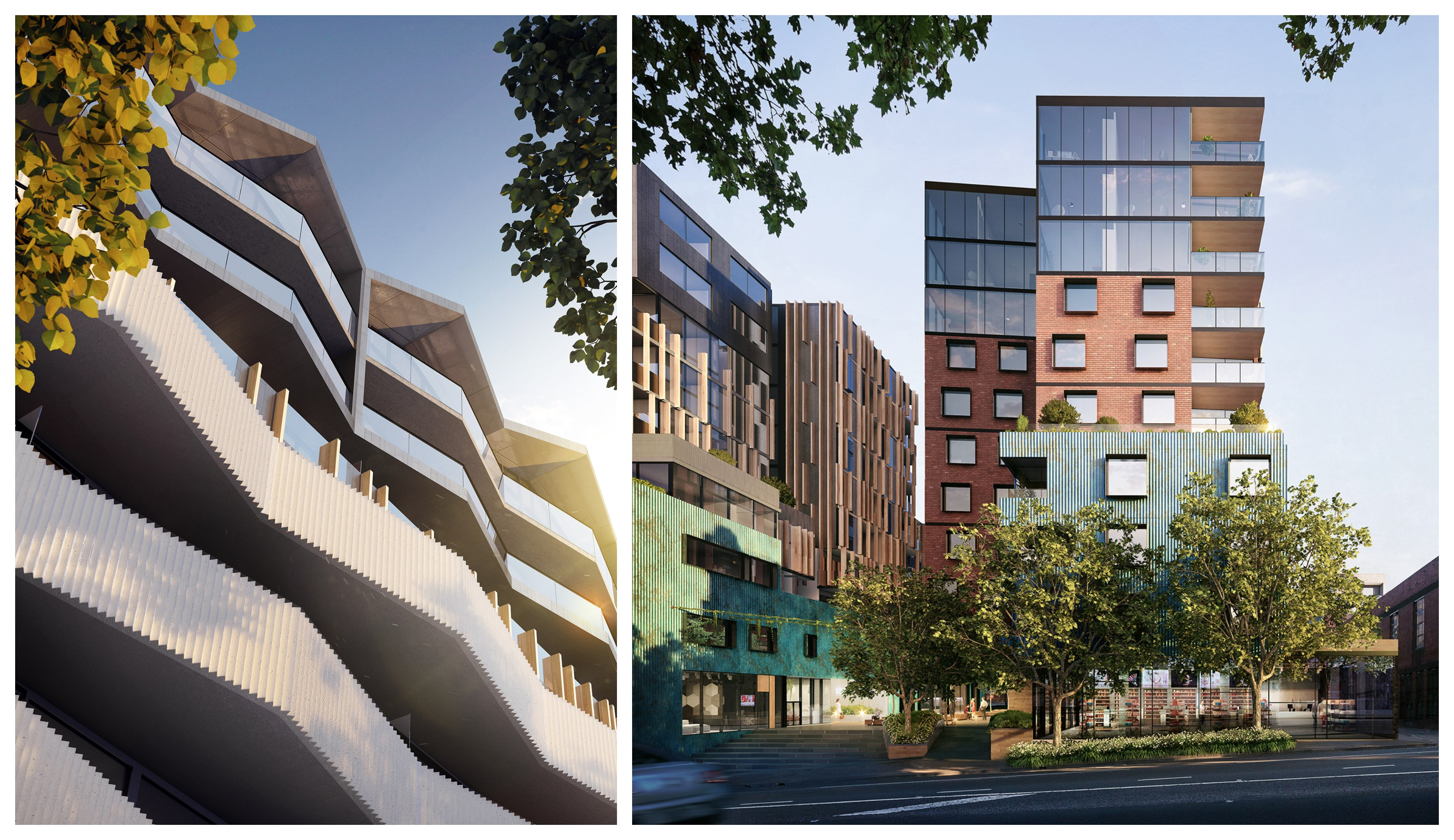 Renders of 'The Mailehouse' and 'The Spencer' in West End.
