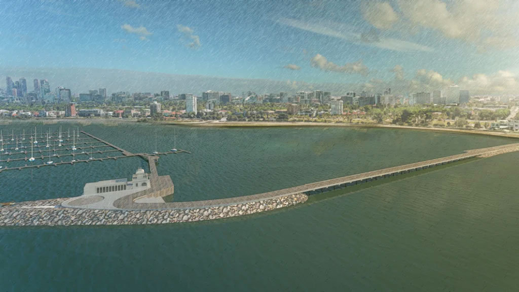 ▲ An artist's impression of a proposed redevelopment of St Kilda Pier. Image: The Age