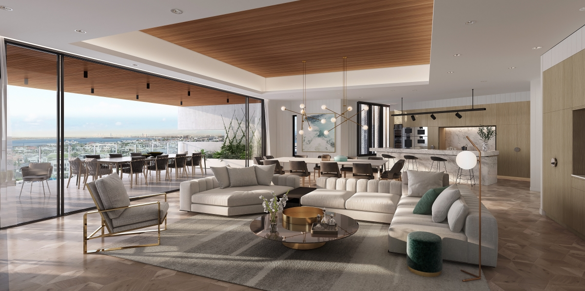 The Sovereign Residences, Sovereign Island – Indoor and outdoor combined living space
