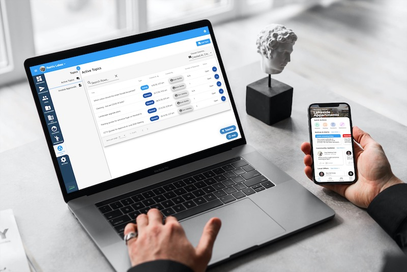 ▲The ResVu Platform, a whitelabel resident engagement and communication software provider, allows you to deliver events to all or select sites within your portfolio.