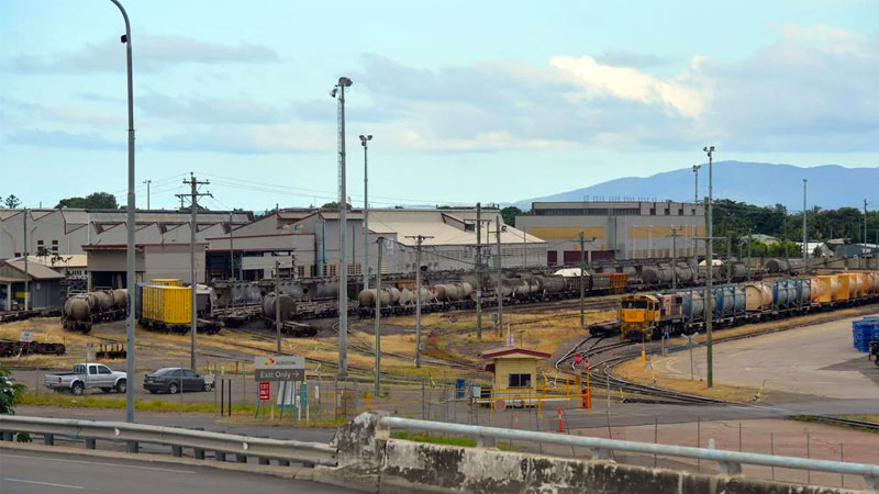 The former rail yards in South Townsville are being put up for sale for redevelopment into a mixed use project.