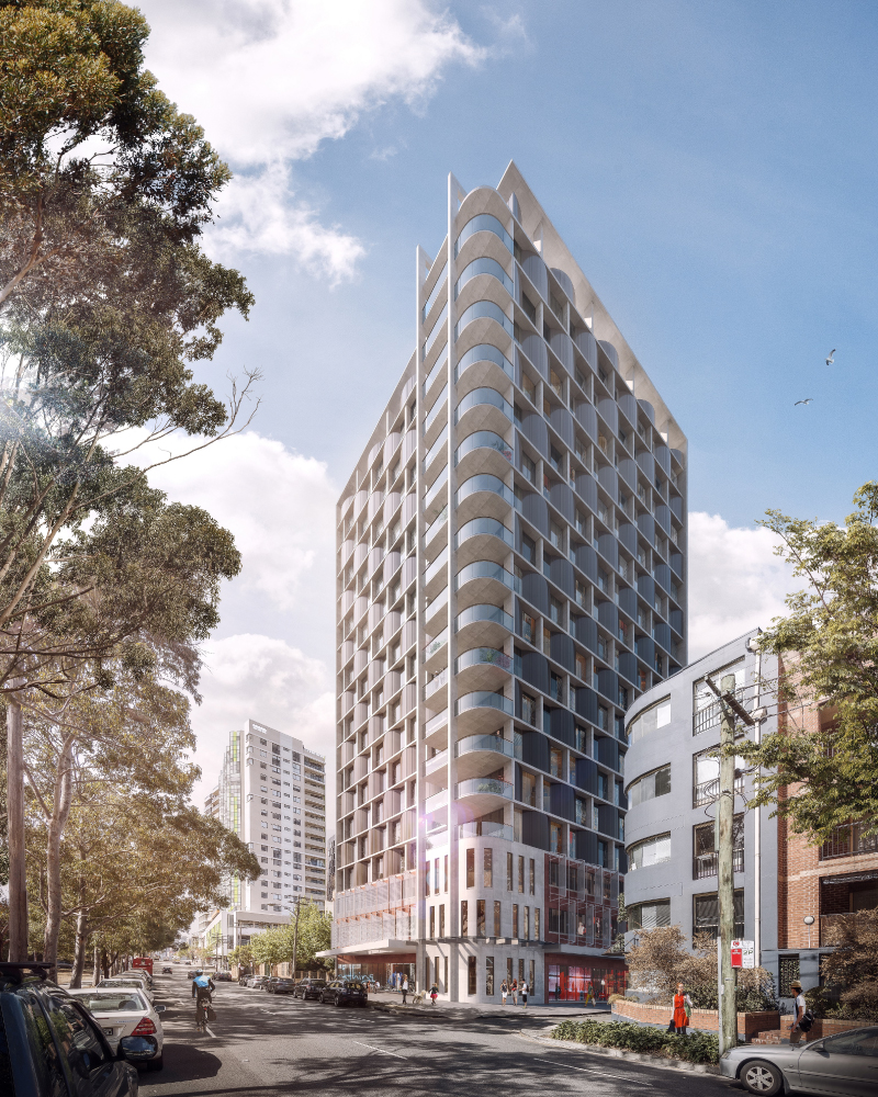 Artist impression of PBSA redevelopment opportunity at Redfern, Sydney