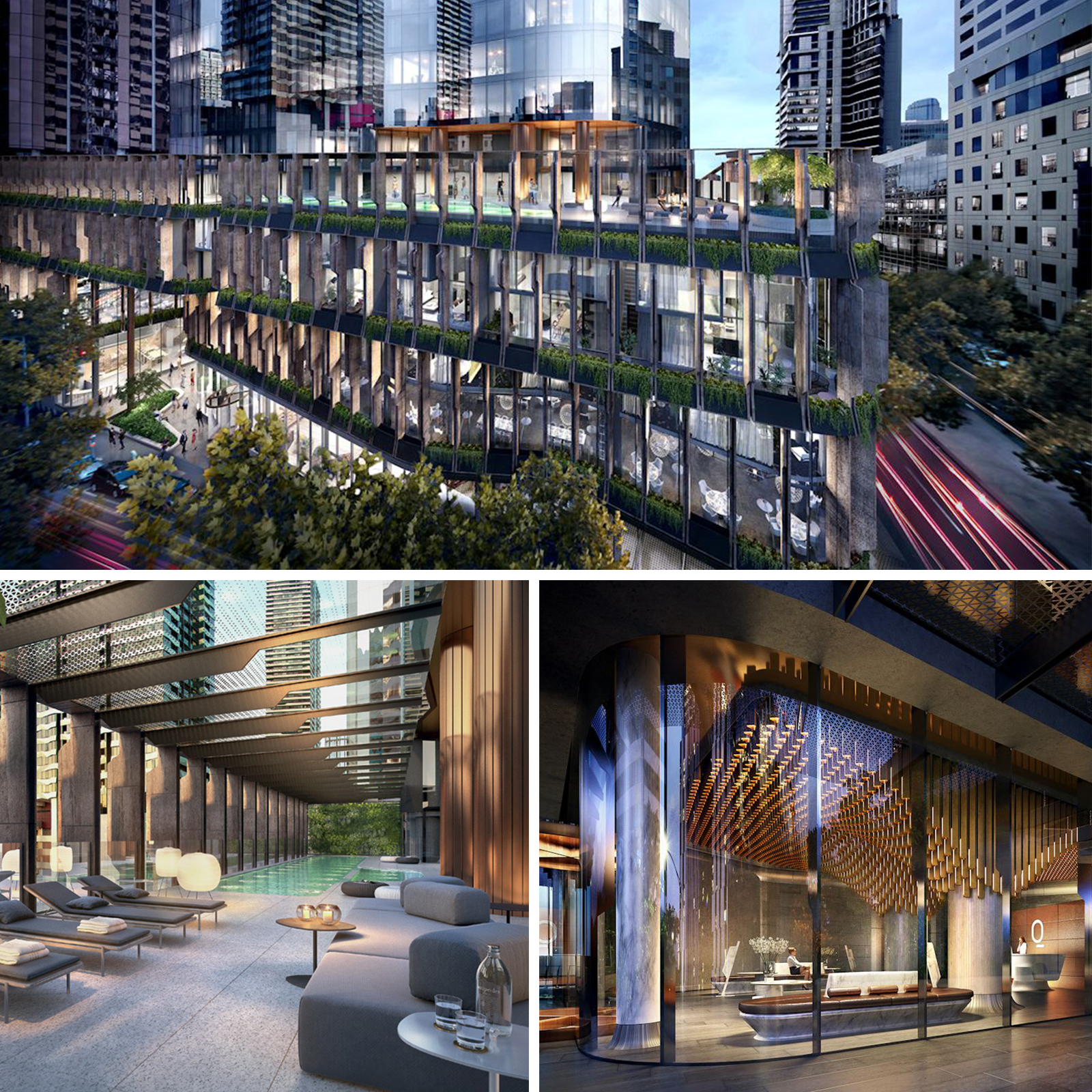 Designed in collaboration by Cox Architecture, Fender Katsalidis Architects and Hecker Guthrie – Melbourne firms of international repute.