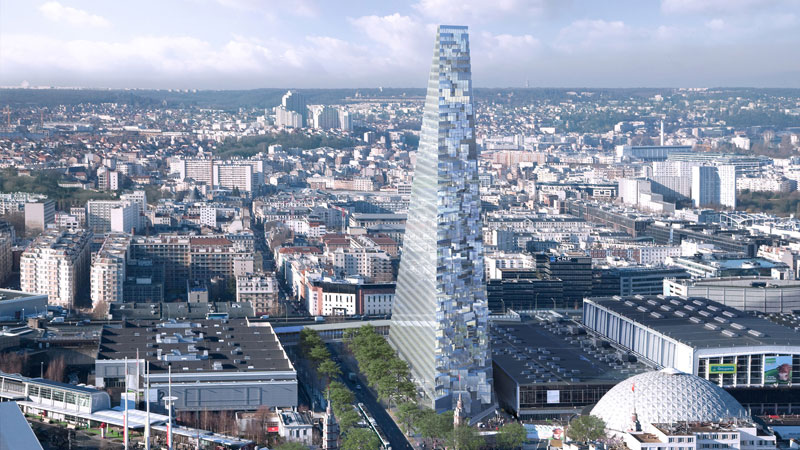 The Tour Triangle will become the city's third tallest building after the Eiffel Tower and the Montparnasse Tower. Image: Herzog & de Meuron