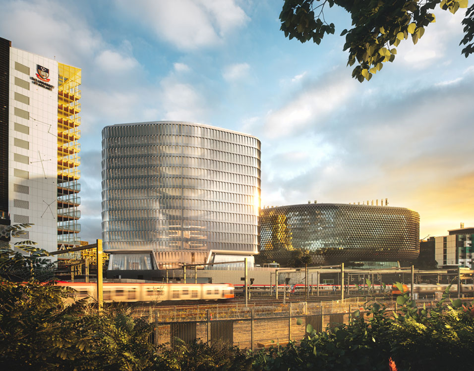 Designed by Woods Bagot, SAHMRI 2 will house Australia's first proton therapy unit for cancer treatment - the Australian Bragg Centre for Proton Therapy and Research.