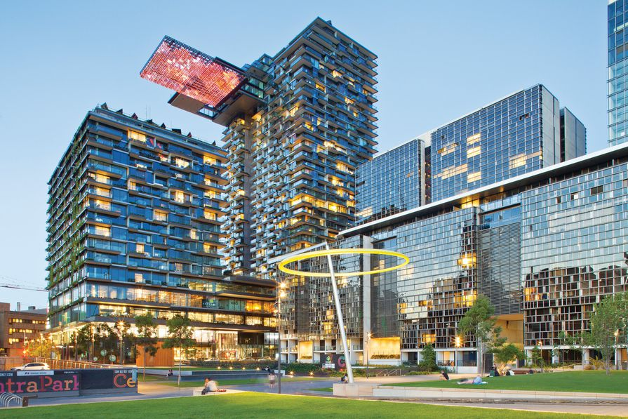 ▲ While new buildings in many sectors are adopting energy efficient designs, the task of upgrading Australia's large stock of existing buildings is proceeding slowly. Image: One Central Park.