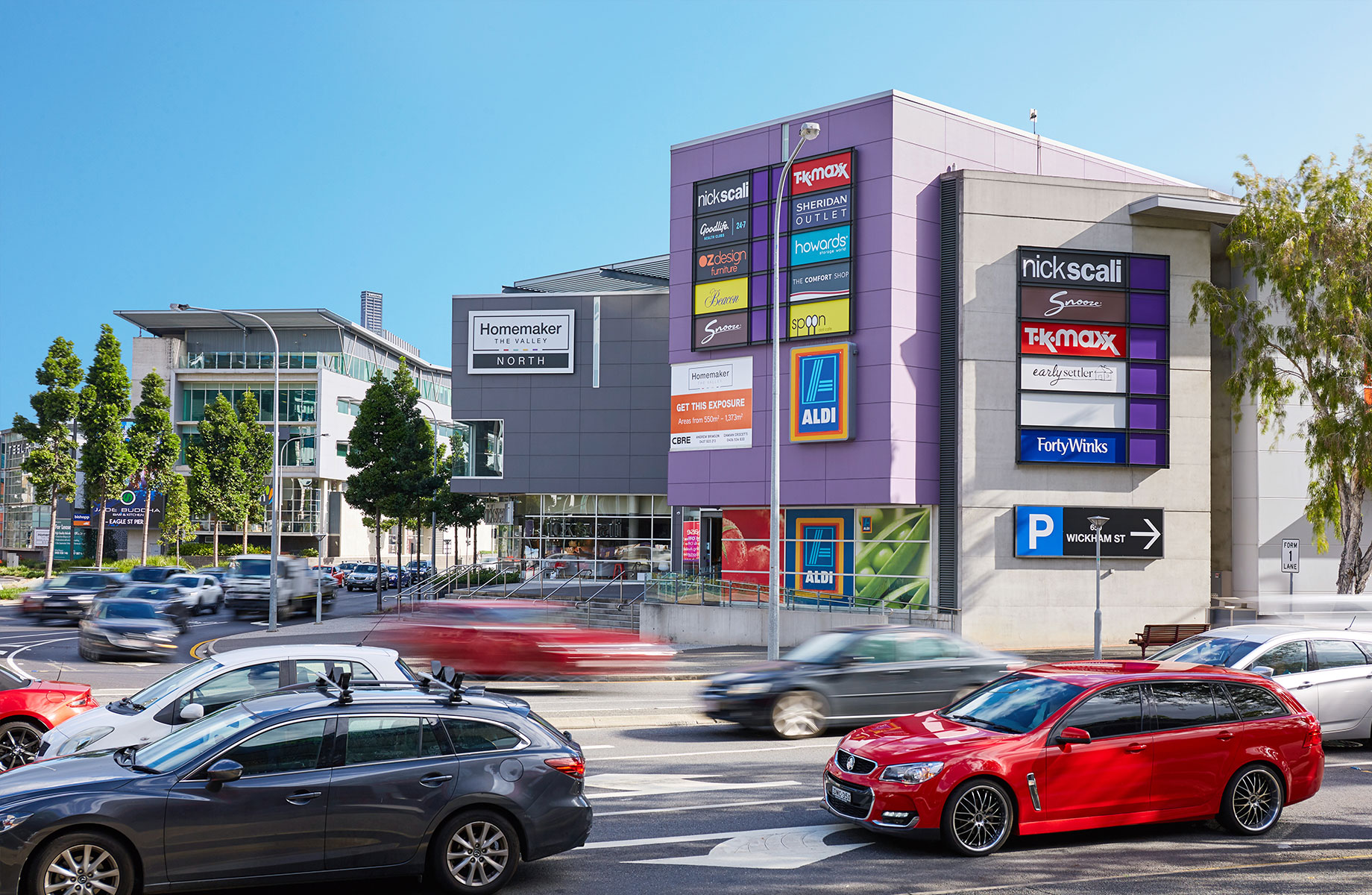Arkadia Capital Group acquired Homemaker The Valley in Brisbane for $170 million.