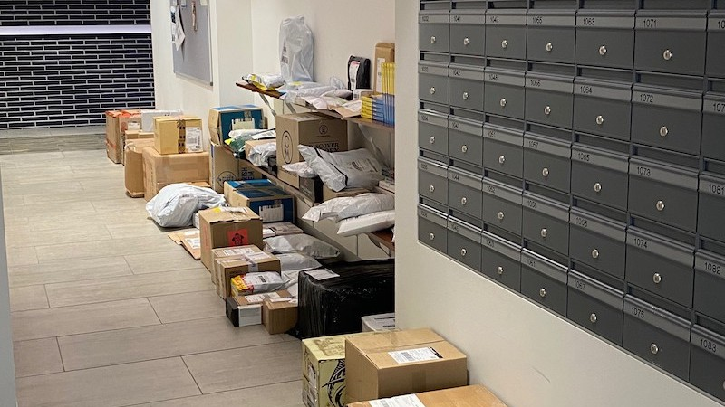? Parcels would then be left in an open corridor near the manager's office for collection, becoming a security issue and detracting from the building's overall aesthetic value.