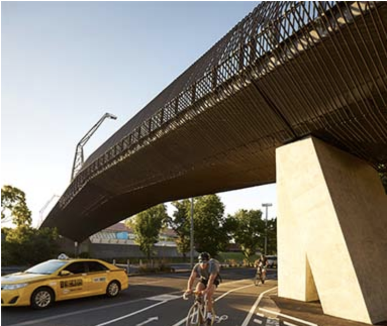 John Wardle Architects with NADAAA and Oculus - Tanderrum Bridge, Melbourne, Australia