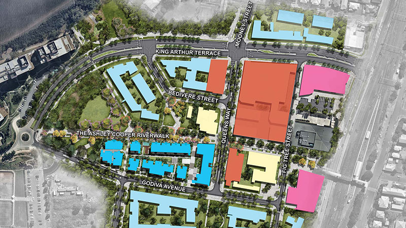 Yeerongpilly Green: Consolidated Properties Group and CVS Lane Capital Partners unveiled its masterplan for the urban renewal project.