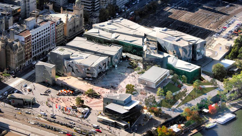 ▲ As a global Flagship Store, Apple had described its plans for Federation Square as the most significant store in the Southern Hemisphere.
