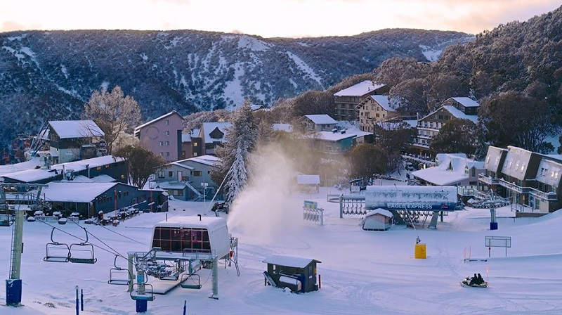 ▲ The Eagle Express opened for three days during Covid-19 at Falls Creek, Victoria.