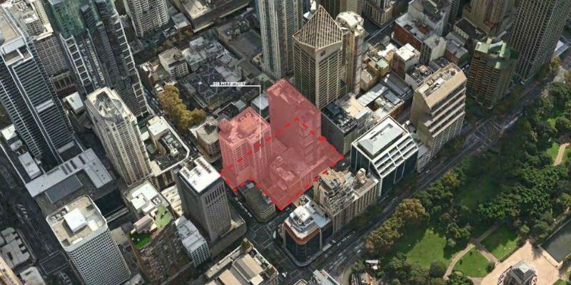 ▲ Sydney development. Han's Group Plans Twin 80-Storey Skyscrapers on Pitt Street.