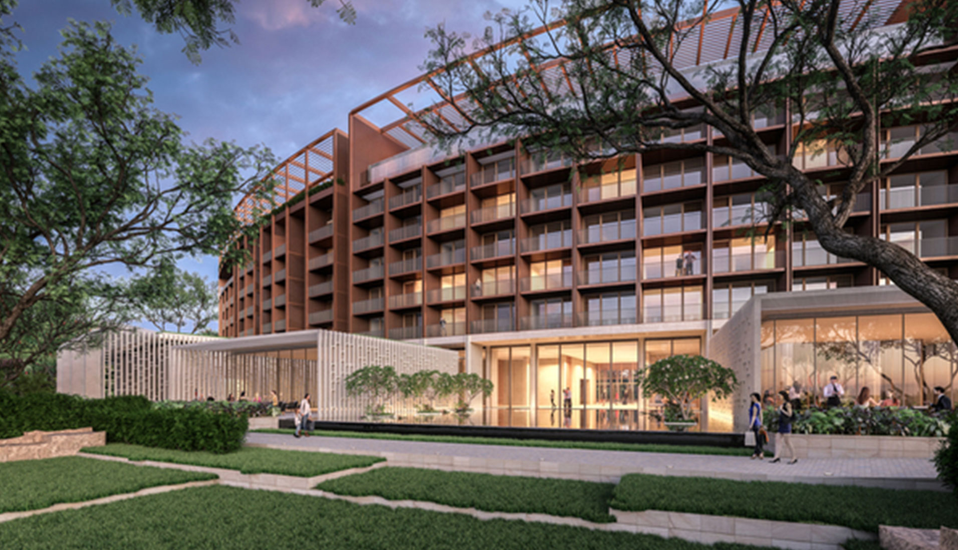 Approval has been granted for a luxury hotel in Darwin that will be built by the Chinese company Landbridge which has leased the city's port.