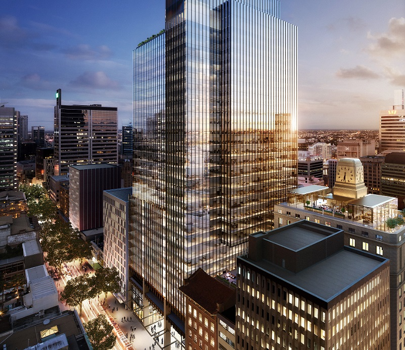 ▲Final renders of Brookfield Place Sydney to be built opposite Wynyard train station in Sydney's CBD.