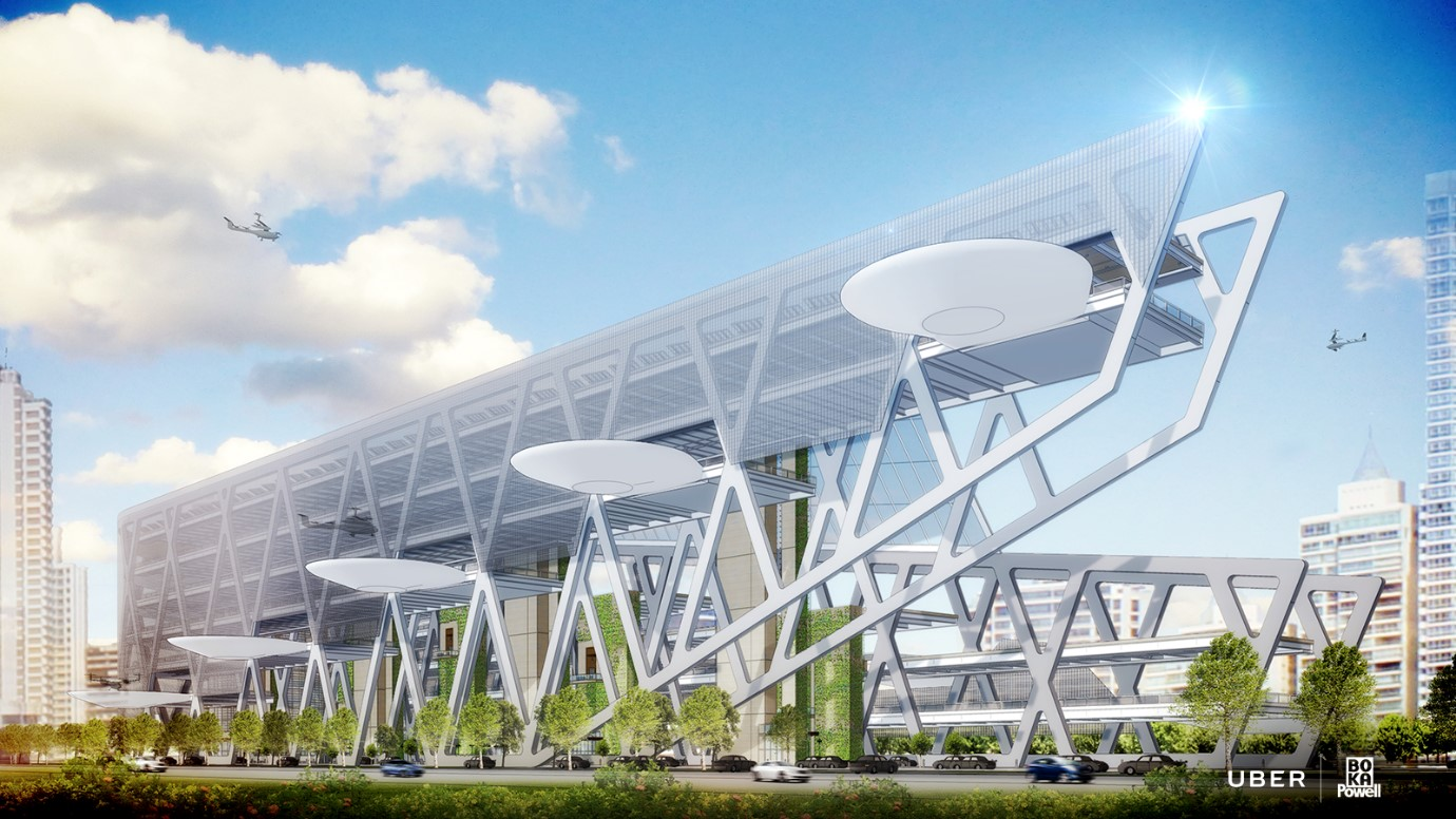 US architecture firm BOCKPowell has designed a white wedge-shaped structure.