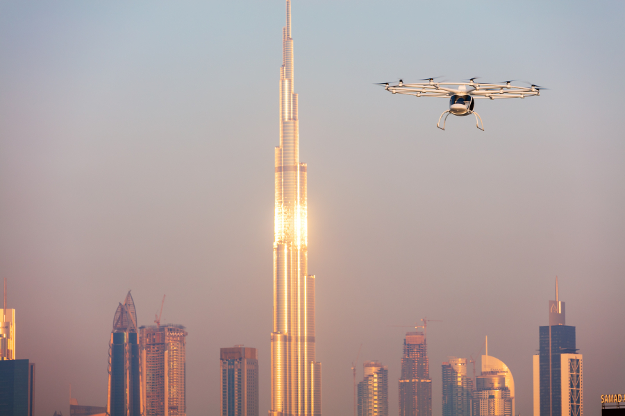 Volocopter performed the first ever autonomous flight of an air taxi in Dubai last year.