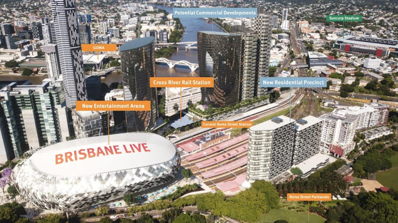 """Plans for the 18,000-seat ""Brisbane Live"" entertainment arena are underway."""