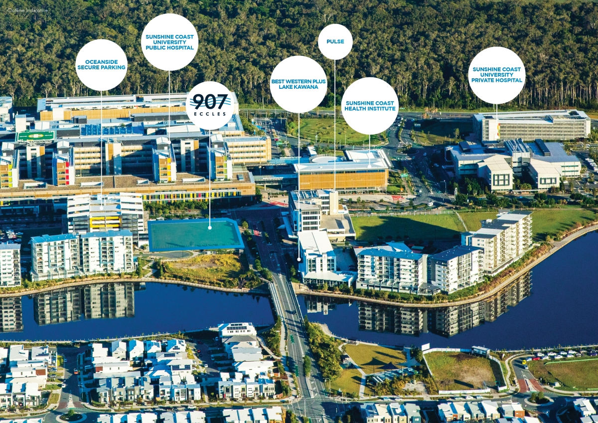 The 3600sqm property – Lot 907 on the corner of Eccles and Florey Boulevards - is one of the best positioned, yet-to-be developed sites within the Sunshine Coast Health Precinct