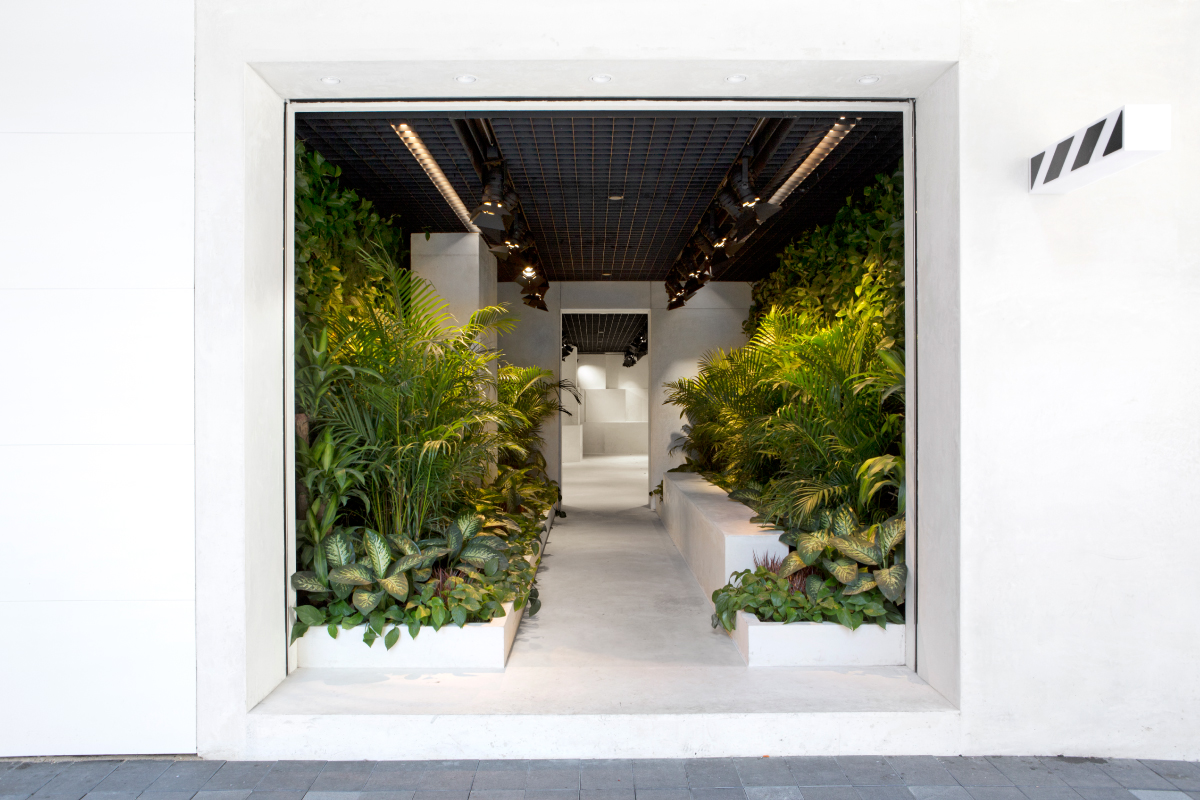 """A store for Off-White that gives a jungle back to Hong Kong."" - Family New York"
