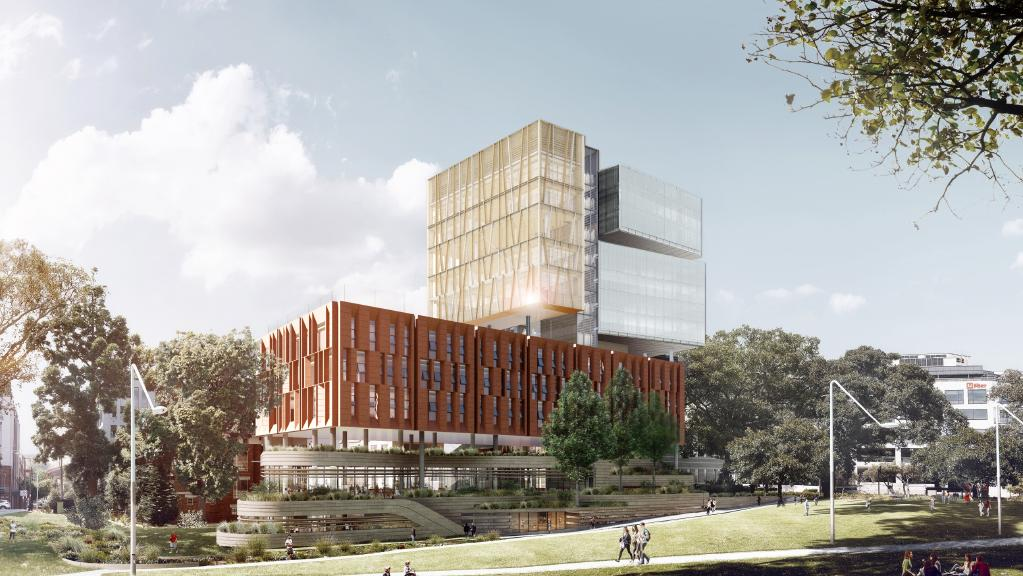 The $60 million Surry Hills vertical High school will feature 47 classrooms, and a grassed rooftop catering to 1200 new students.