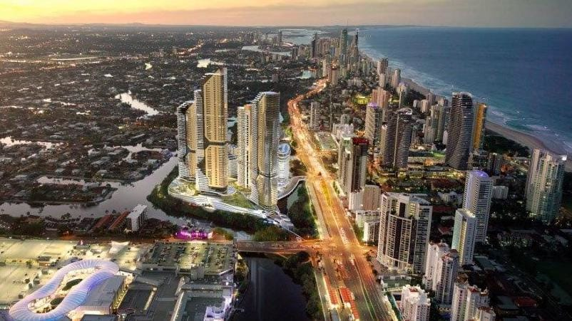 "Plans for a global tourism hub have been ill-received by Star, who argue their proposal for an integrated casino development (pictured) already fit the definition of a ""global tourism hub"" for the Gold Coast."