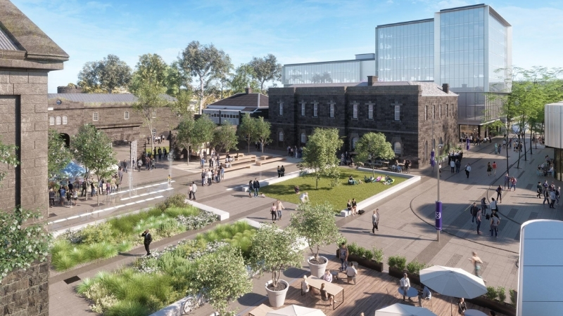 ▲ Construction continued through Covid to transform Pentridge Prison into a retail complex opening at the end of 2020.