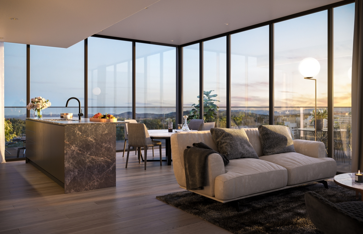 Sitting alongside Geocon's Tryst and Metropol the $319 million redevelopment breathes new life to the edge of the City and is Canberra's last opportunity to buy a brand new apartment in the CBD opposite Glebe Park.