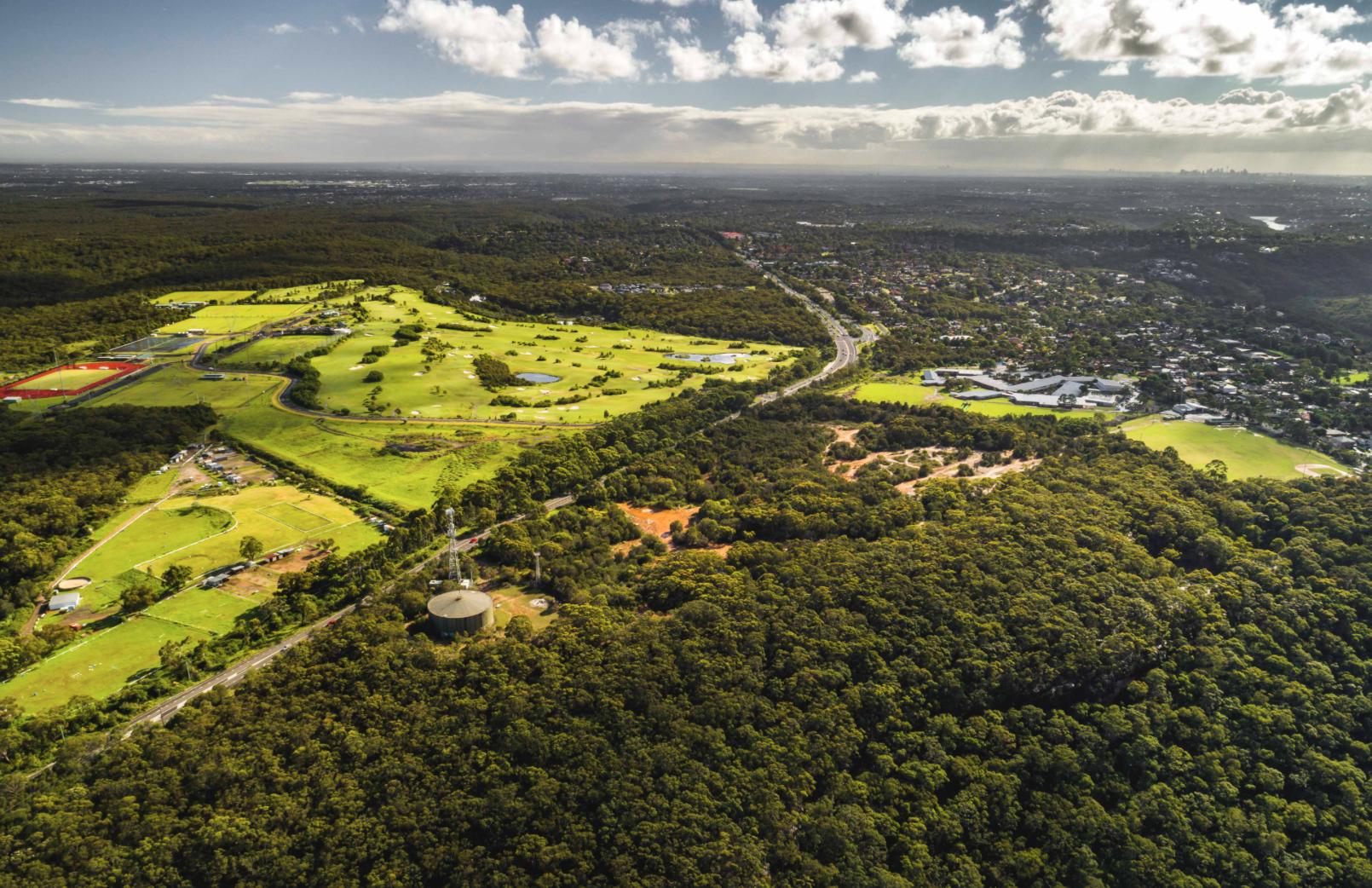 The Ridgeway greenfield development at Sutherland Shire