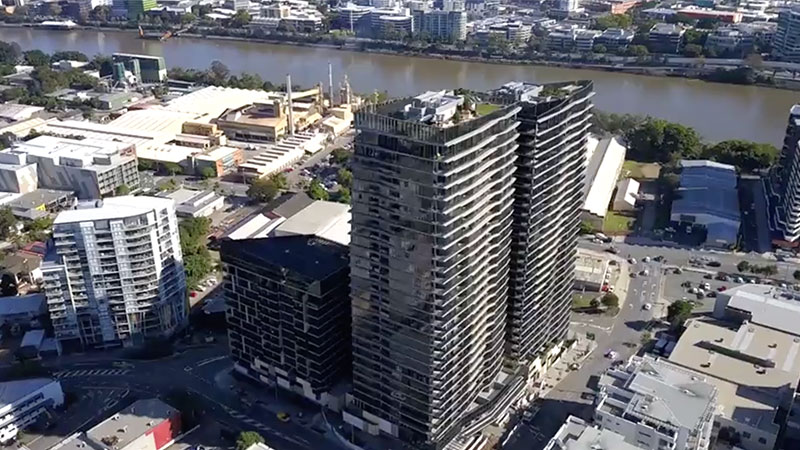 Brisbane 1 is the first completed Australian development for the Hong Kong-listed developer.