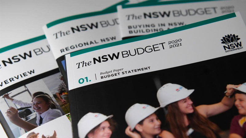 ▲ The NSW state budget commits to phasing out economically distorting state property transaction taxes and reducing payroll taxes.