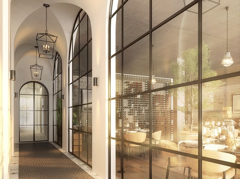 Patterned ceramic tiles, fittings and lighting and intricate ironwork feature throughout the design.