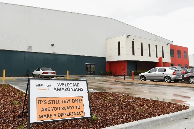 Amazon Australia's first Melbourne Warehouse.