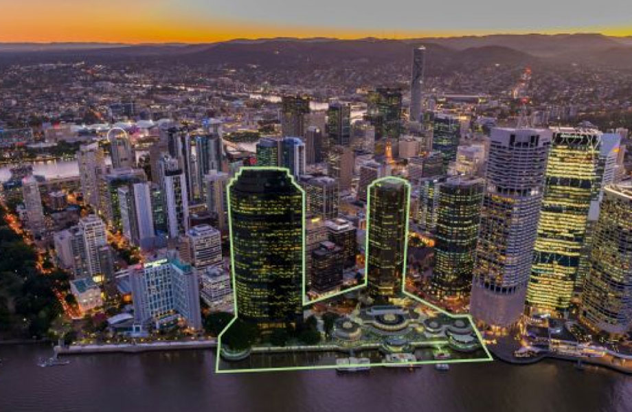"""▲ If approved Dexus plans to construct two towers on Eagle St Pier. The plans have """"in-principle"""" support from council."""