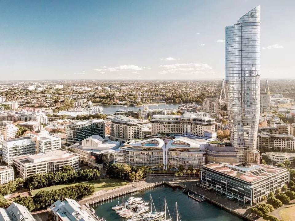 The proposed Ritz-Carlton Sydney hotel will soar above the western harbourside skyline.
